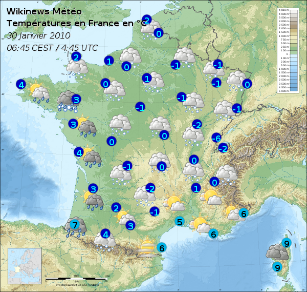 France Meteo Map File:météo France 30 Janvier