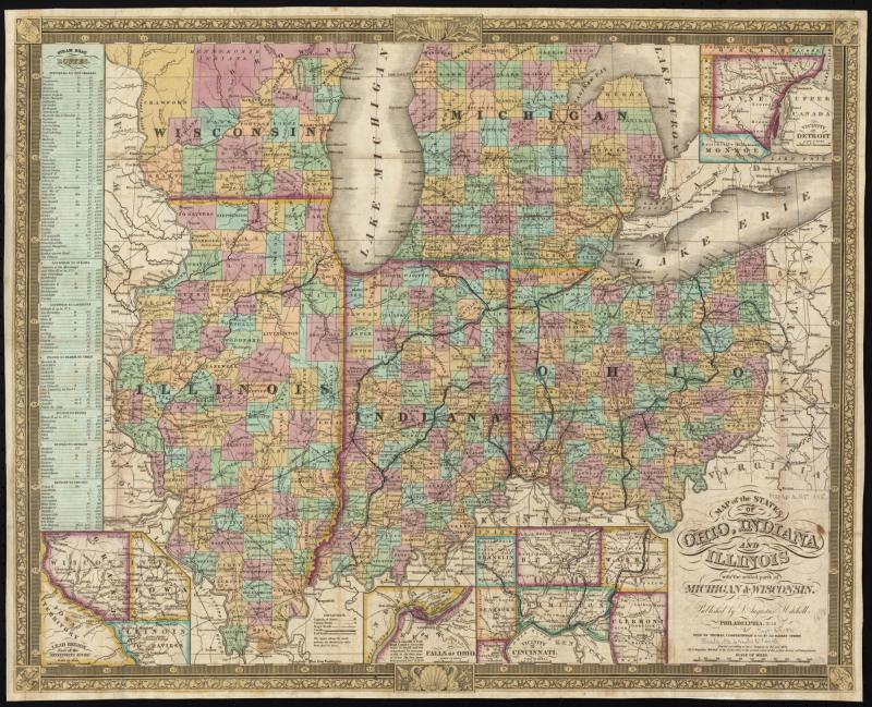 FileMap Of The States Of Ohio Indiana And Illinois With The - Map of indiana and illinois
