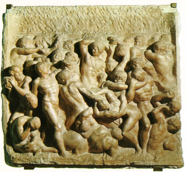 Ficheiro:Michelangelo, battaglia dei centauri, casa buonarroti.jpg