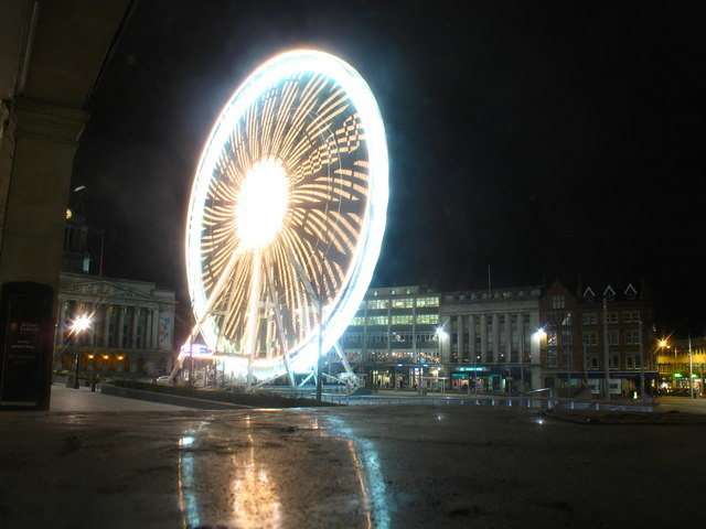 File:Nottingham Eye and Market Square by night - geograph.org.uk - 1310230.jpg