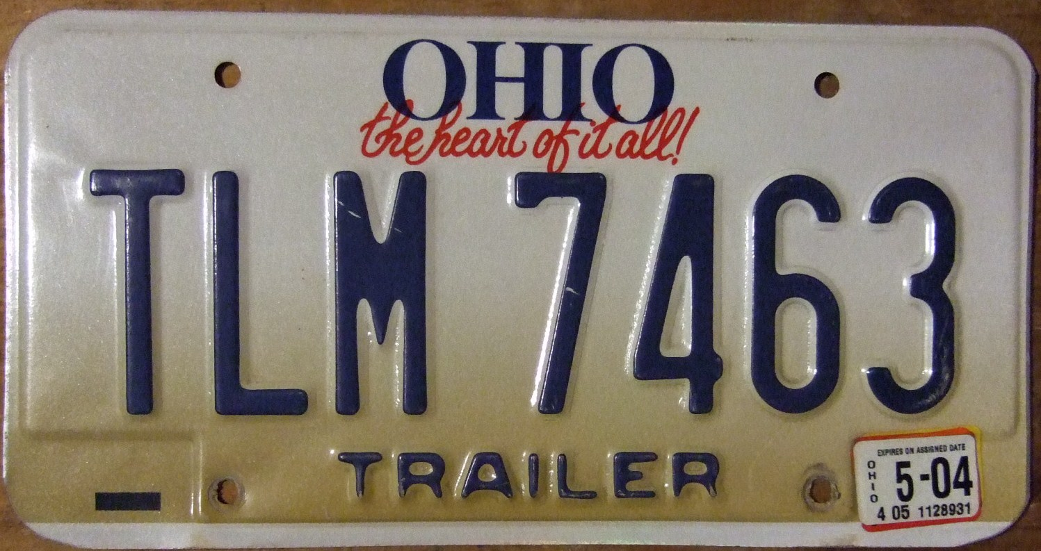 File:OHIO 2004 -TRAILER LICENSE PLATE - Flickr - woody1778a.jpg ...
