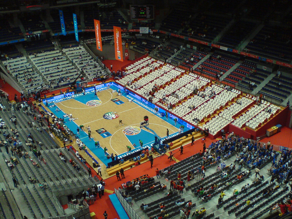 File palacio de deportes madrid wikimedia commons - Pabellon de deportes de madrid ...