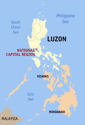 Map Philippines in Region 14