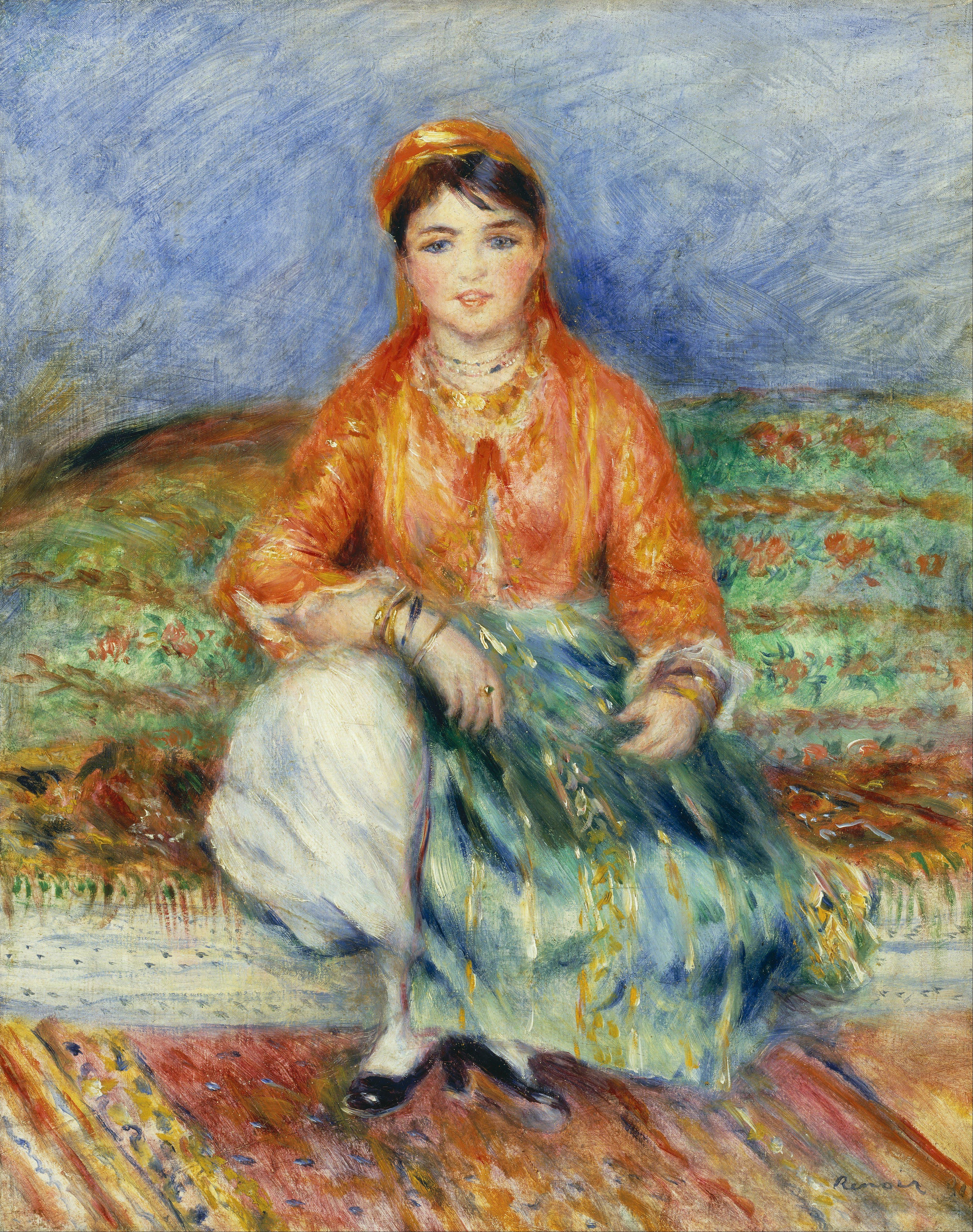 File pierre auguste renoir algerian girl google art for Auguste renoir