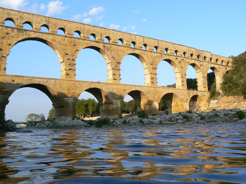 pont du gard Roman aqueduct, world heritage monument of unesco museum exhibitions, events.