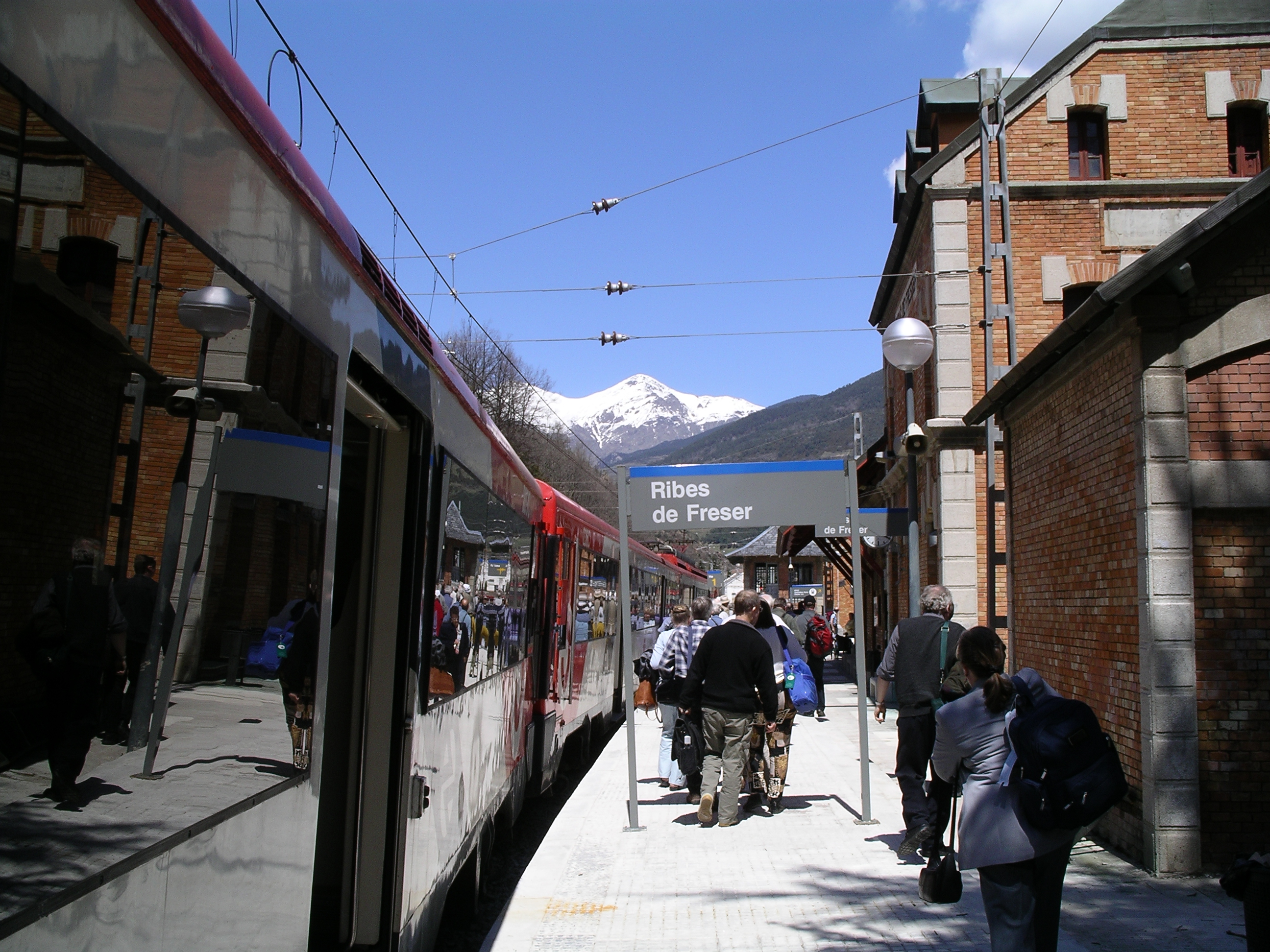 Ribes de Freser Spain  City pictures : Ribes de Freser station Wikimedia Commons