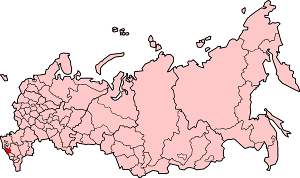 Карачаево-Черкесская Республика на карте России