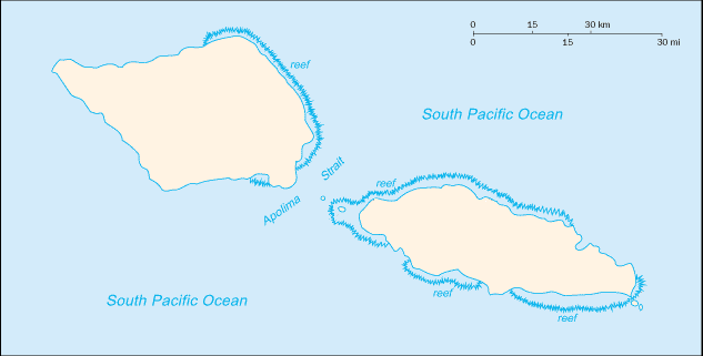 Samoa blank map