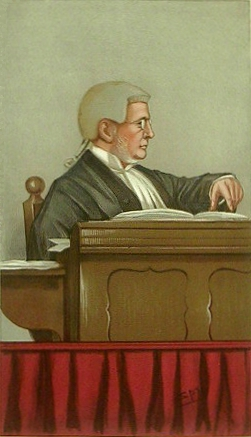 Caricature of The Hon Sir Matthew Ingle Joyce ...