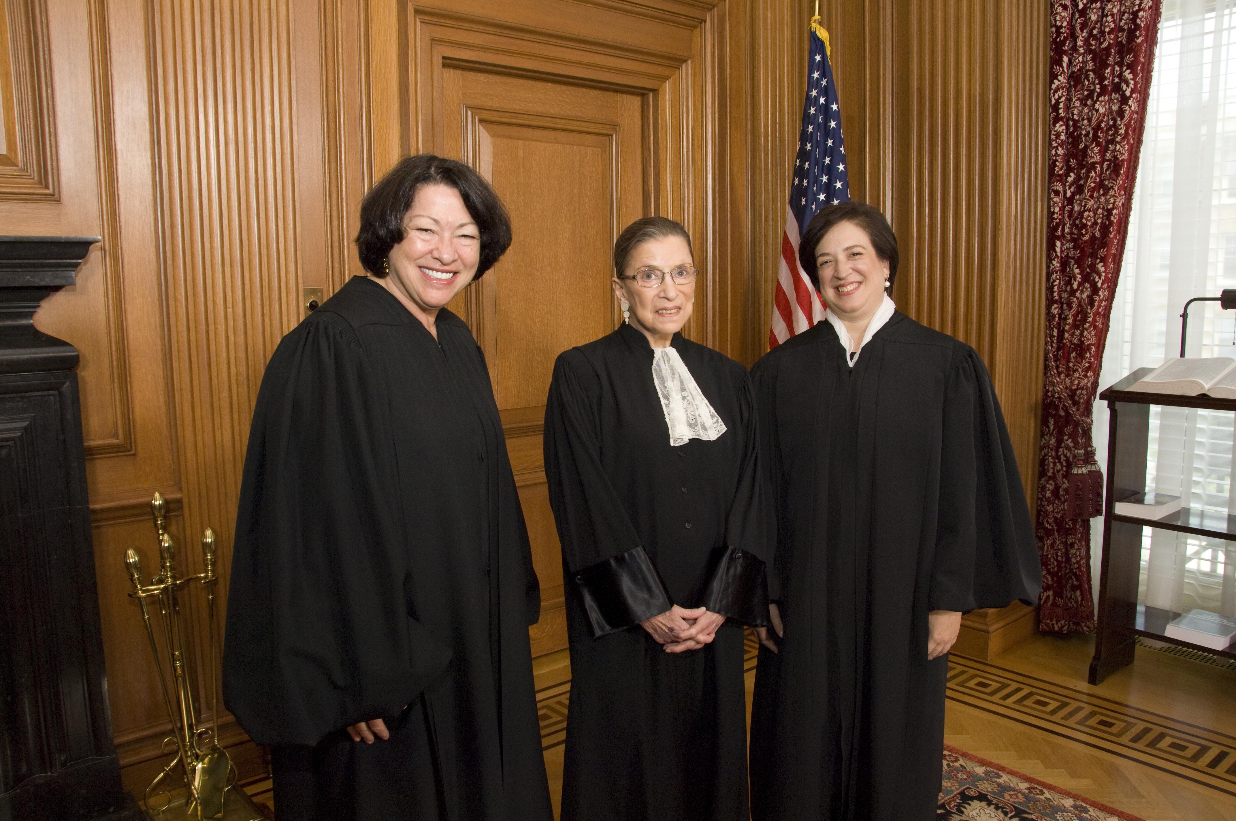 Sotomayor, Ginsburg, and Kagan 10-1-2010.jpg