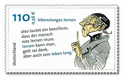 Stamp Germany 2001 - Lebenslanges Lernen