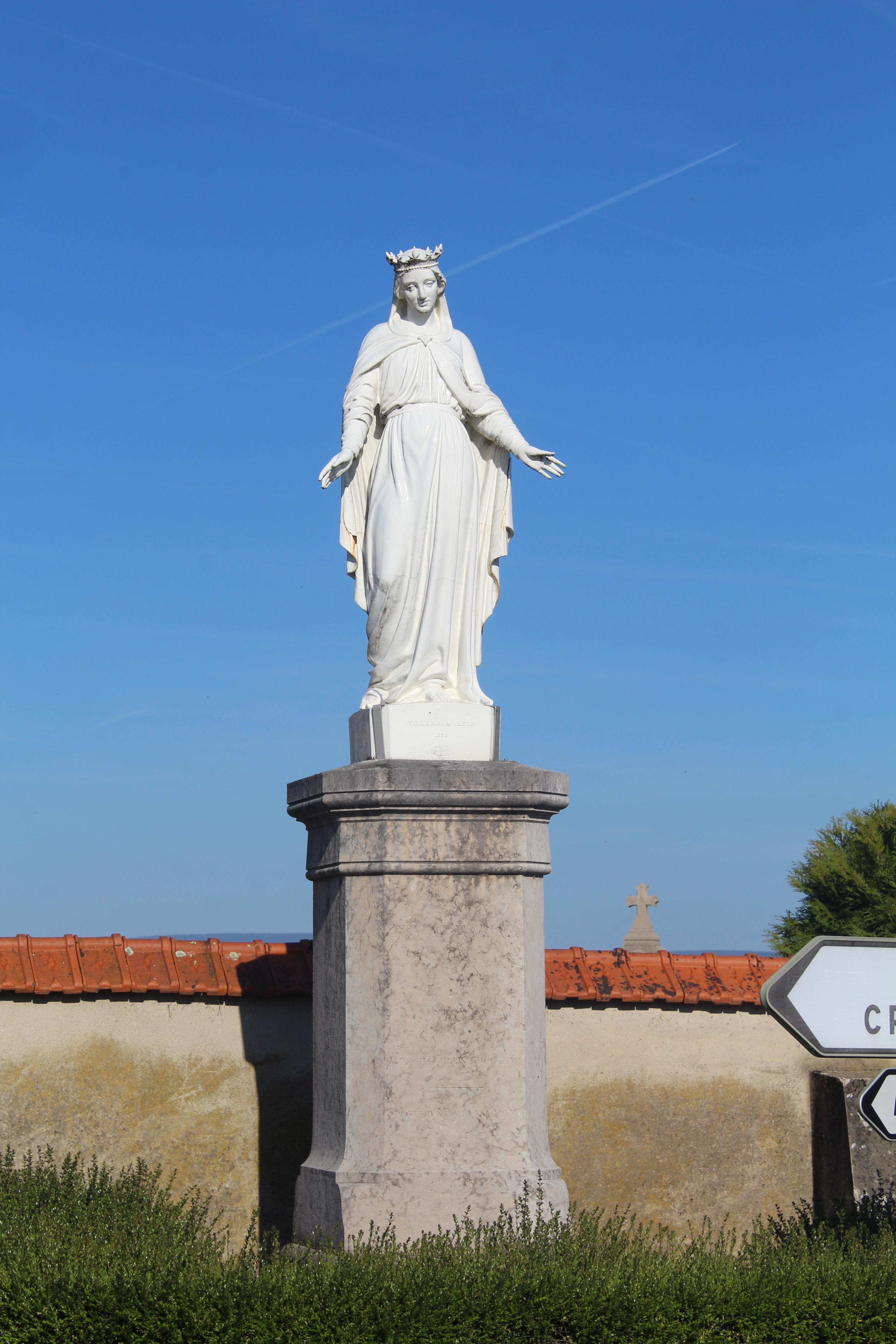 Filestatue Vierge Marie Attignat 1jpg Wikimedia Commons
