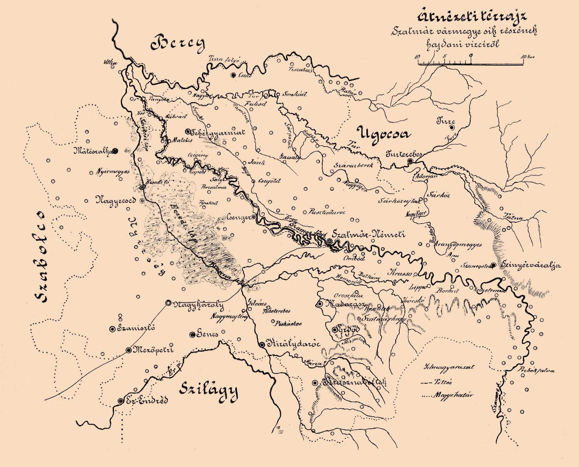 File Szatmar Varmegye Vizrajzi Terkepe Jpg Wikimedia Commons