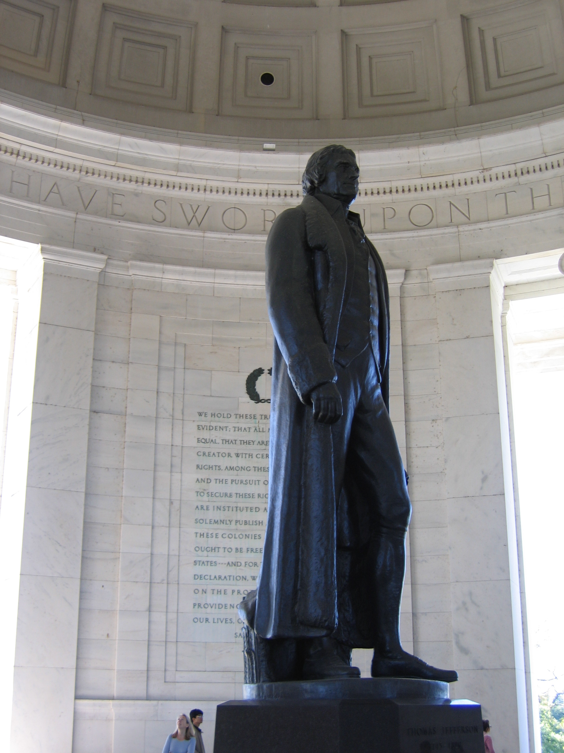 The Jefferson Statue at the Jefferson Memorial