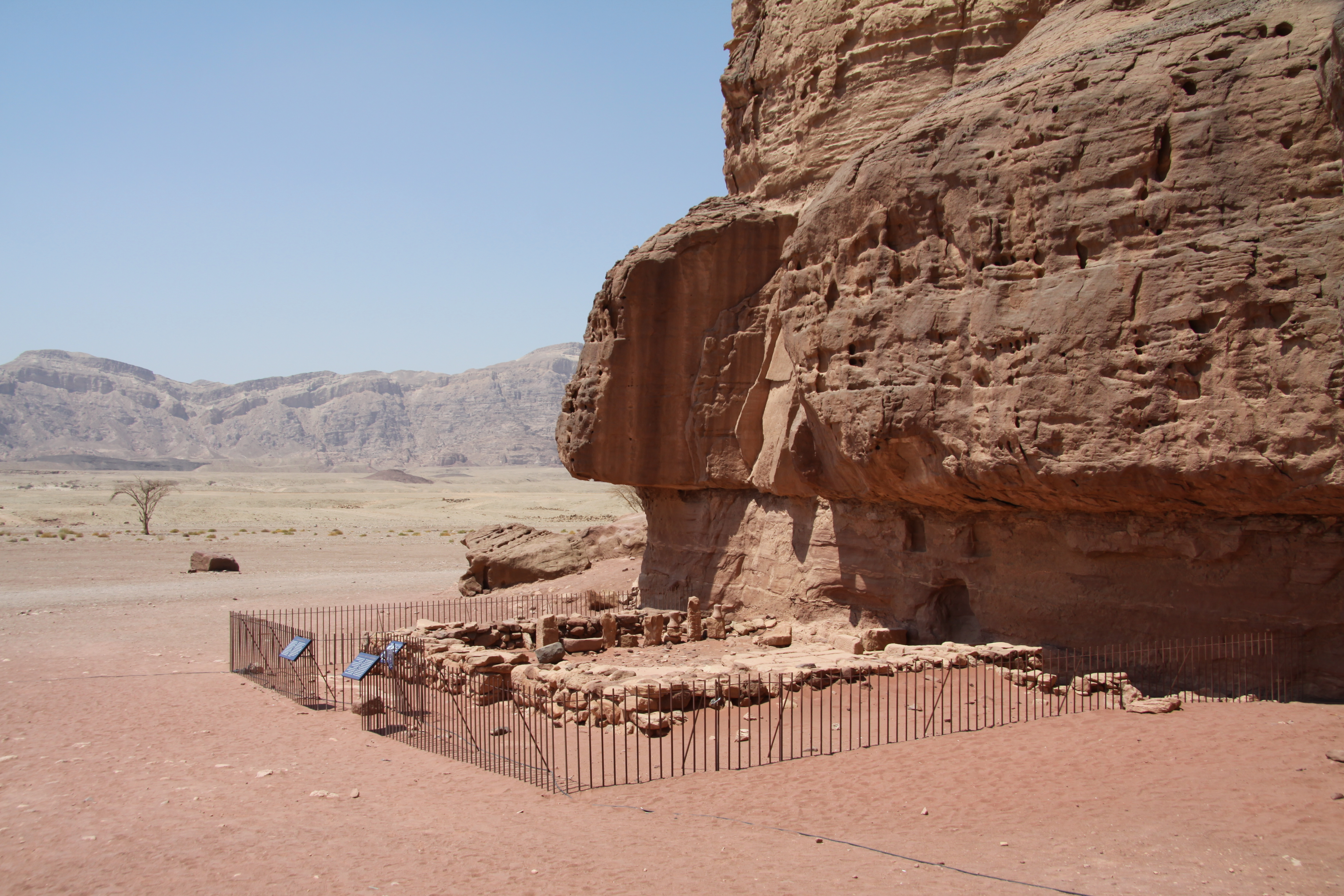 Temple Of Hathor In Timna Park Summer Copper Wikipedia