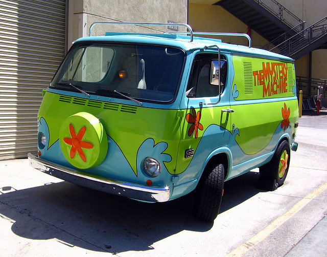 The Mystery Machine van @ Universal Studios Hollywood