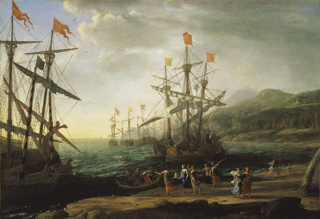 The Trojan Women Setting Fire to Their Fleet c1643 Claude Lorrain