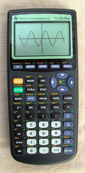 English: Front of Texas Instruments TI-83 grap...