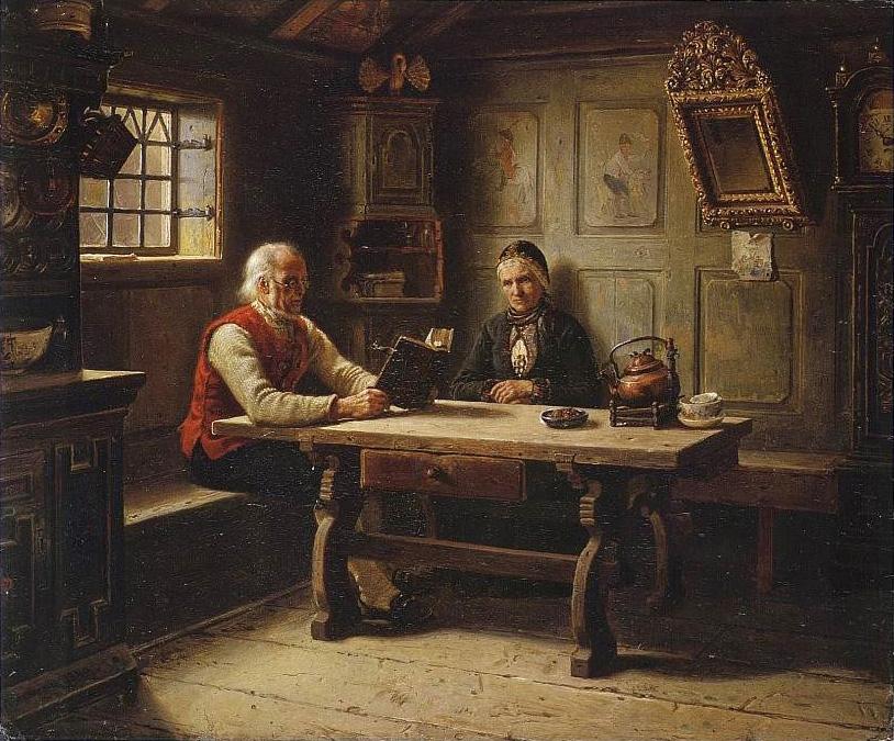Результат изображения для Адольф Тидеманд - «Одинокие старики» «De ensomme gamle» Адольф Тидеманд (1814