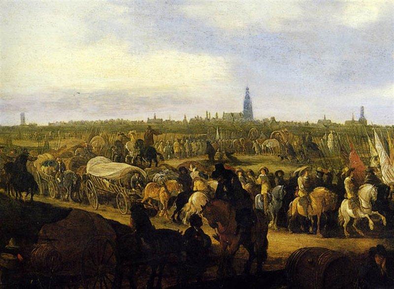 Uittocht Spaans garnizoen uit Breda in 1637 door Hendrick de Meijer