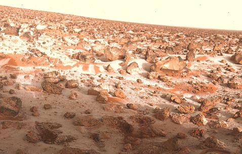 """Иней на поверхности Марса.Станция """"Викинг-2"""""""