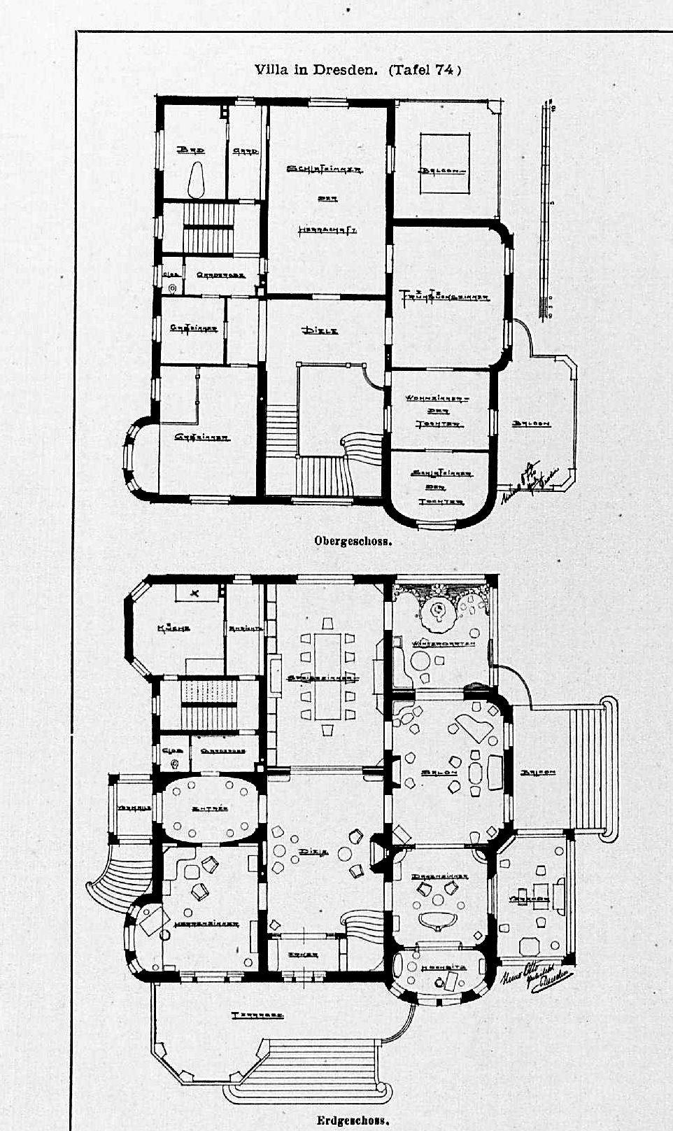 file villa in dresden st belallee 21 gesamtansicht architekt heino otto dresden tafel 74. Black Bedroom Furniture Sets. Home Design Ideas