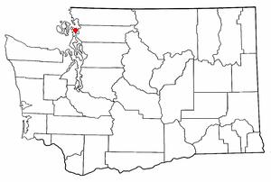 Location of Anacortes, Washington