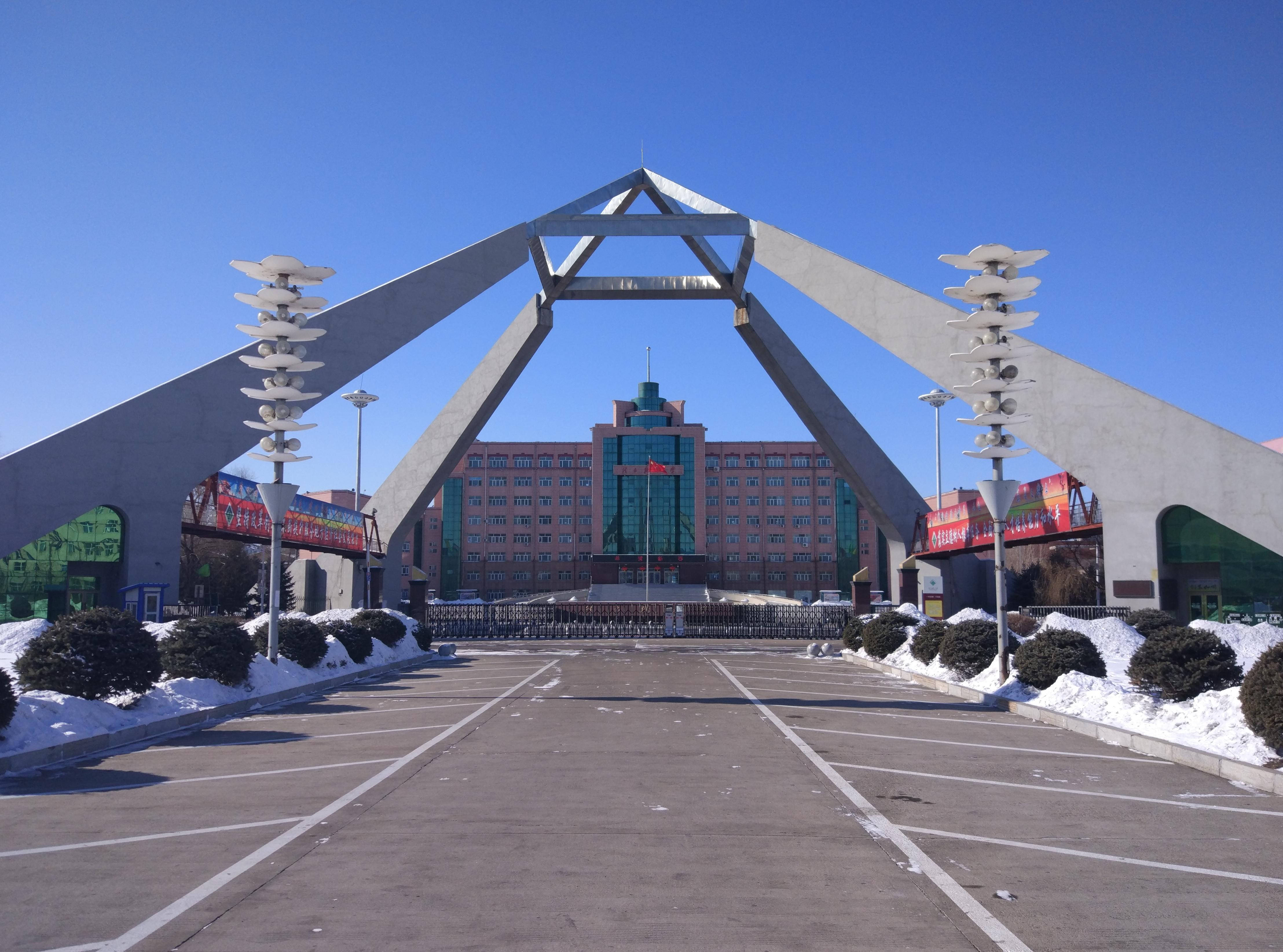 File:佳木斯大学天桥 Overpass, the symbol of Jiamusi