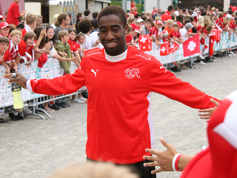 Djourou at Euro 2008 with Switzerland