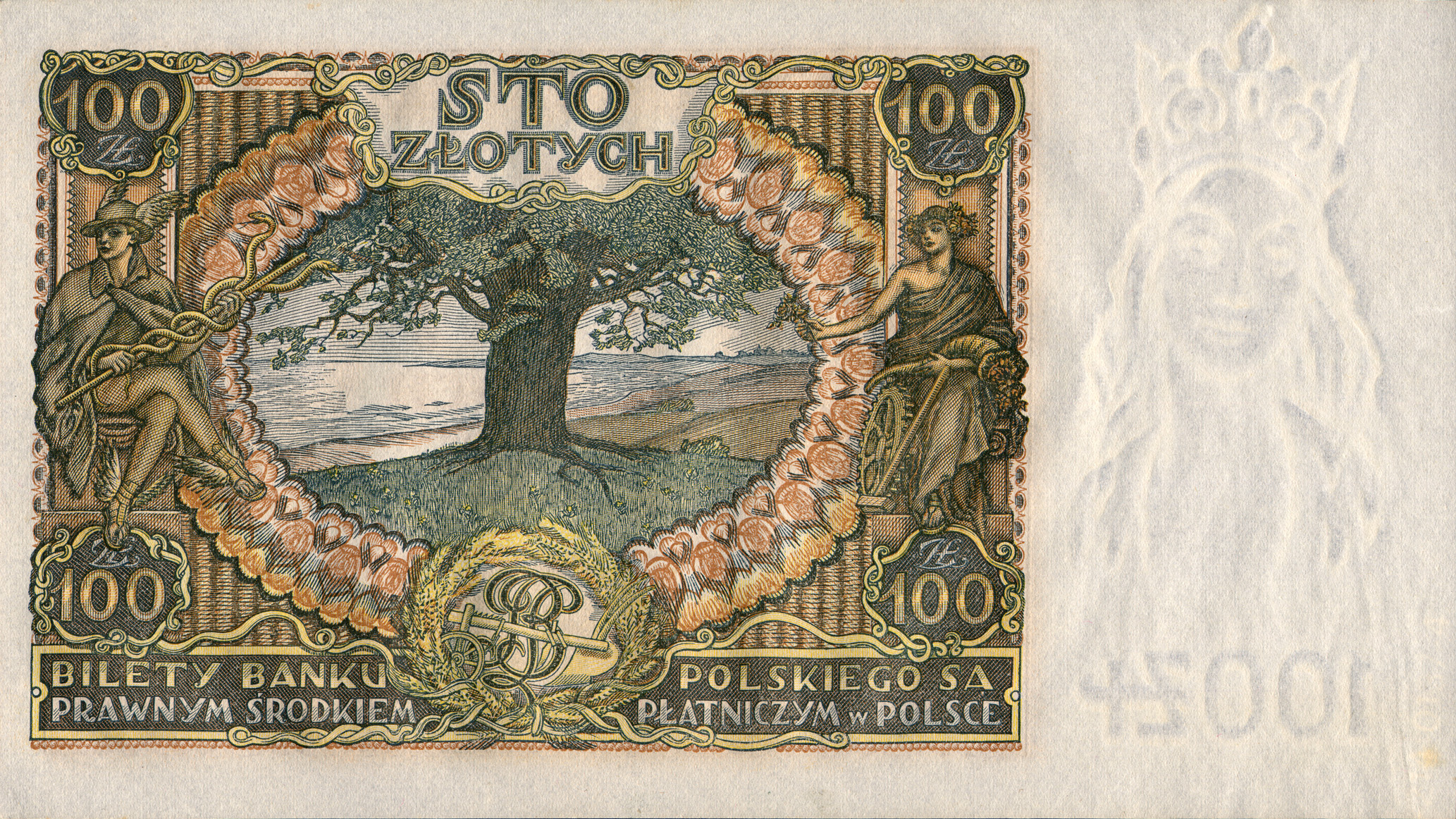 Znalezione obrazy dla zapytania 100 zl 1935 mehofer