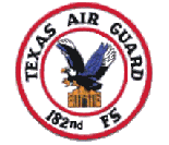 182d Fighter Squadron flight suit patch