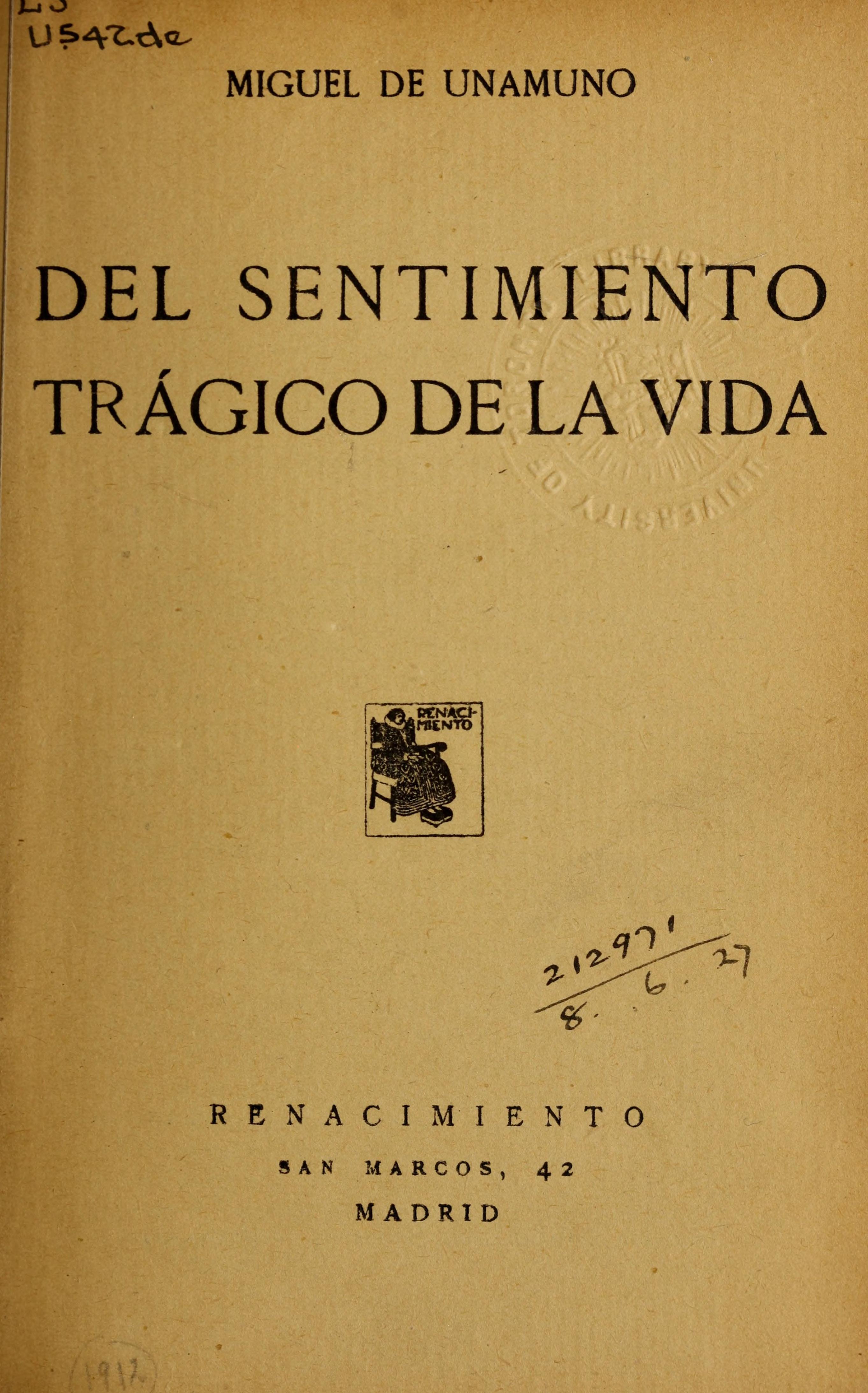 Del sentimiento trágico de la vida (1912)