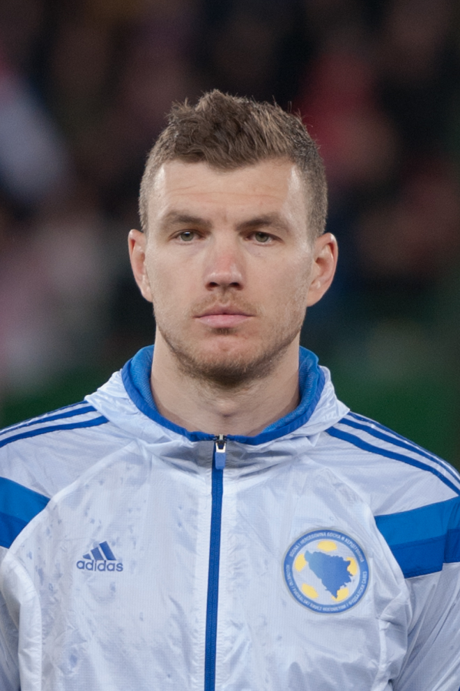 Edin Dzeko earned a  million dollar salary - leaving the net worth at 23 million in 2017