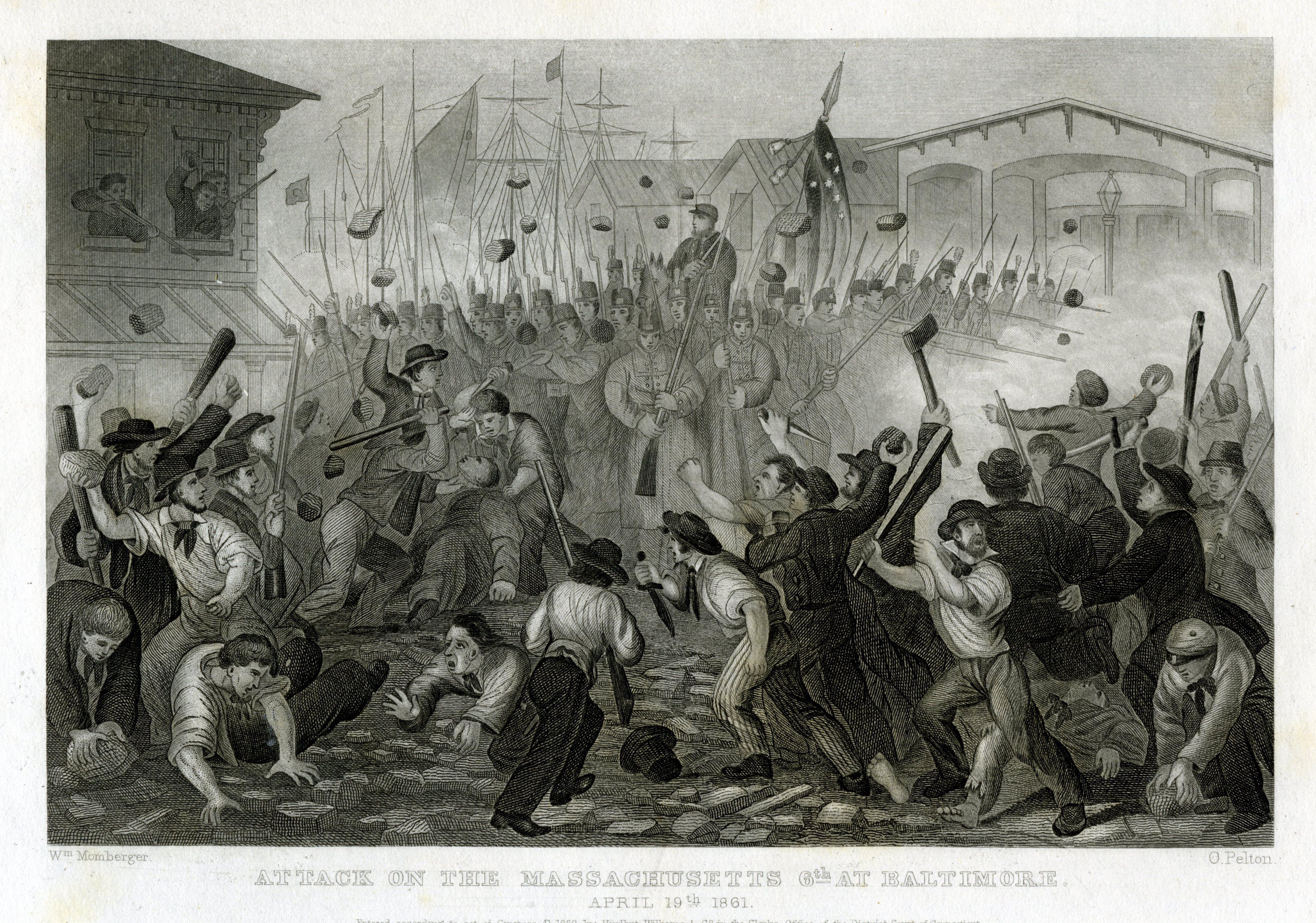 File:6th Massachusetts Militia attacked in Baltimore 1861.jpg