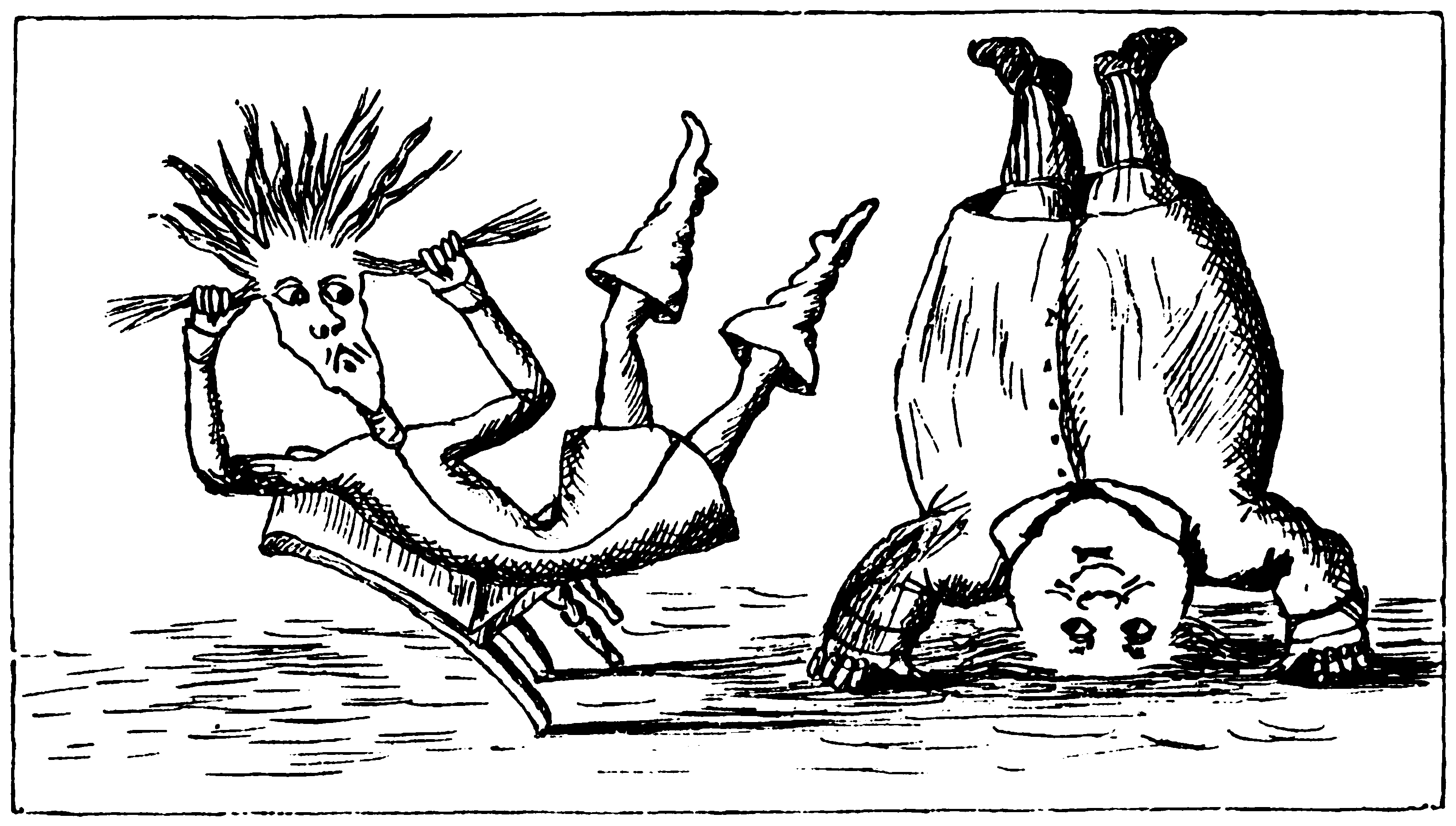 Illustration for the poem by the hand of Lewis Carroll himself