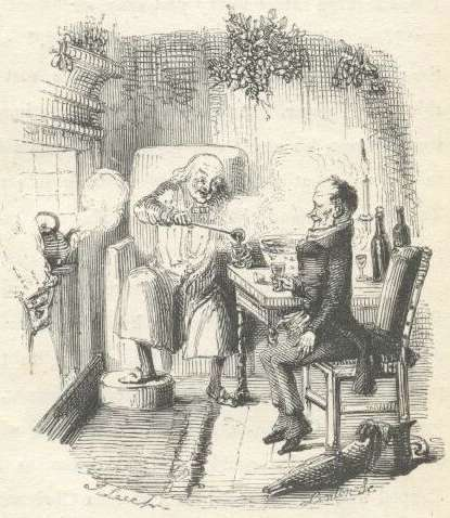 Christmas Carols on File A Christmas Carol   Scrooge And Bob Cratchit Jpg   Wikimedia