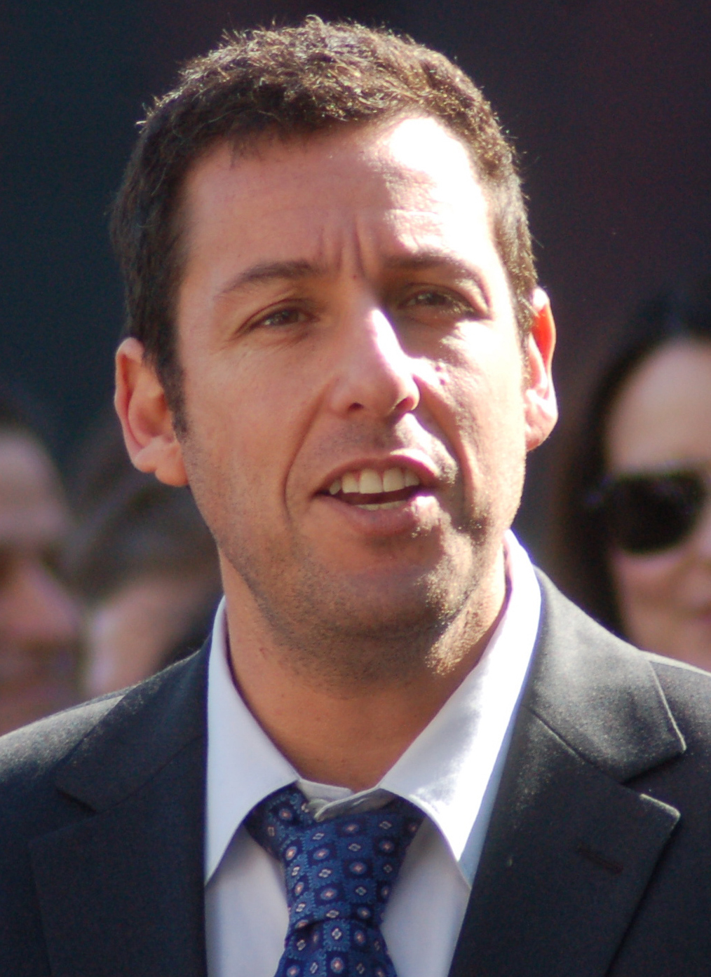 The 50-year old son of father Stanley Sandler and mother Judy Sandler, 177 cm tall Adam Sandler in 2017 photo