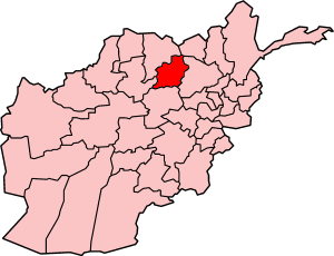 Map showing Samangan province in Afghanistan