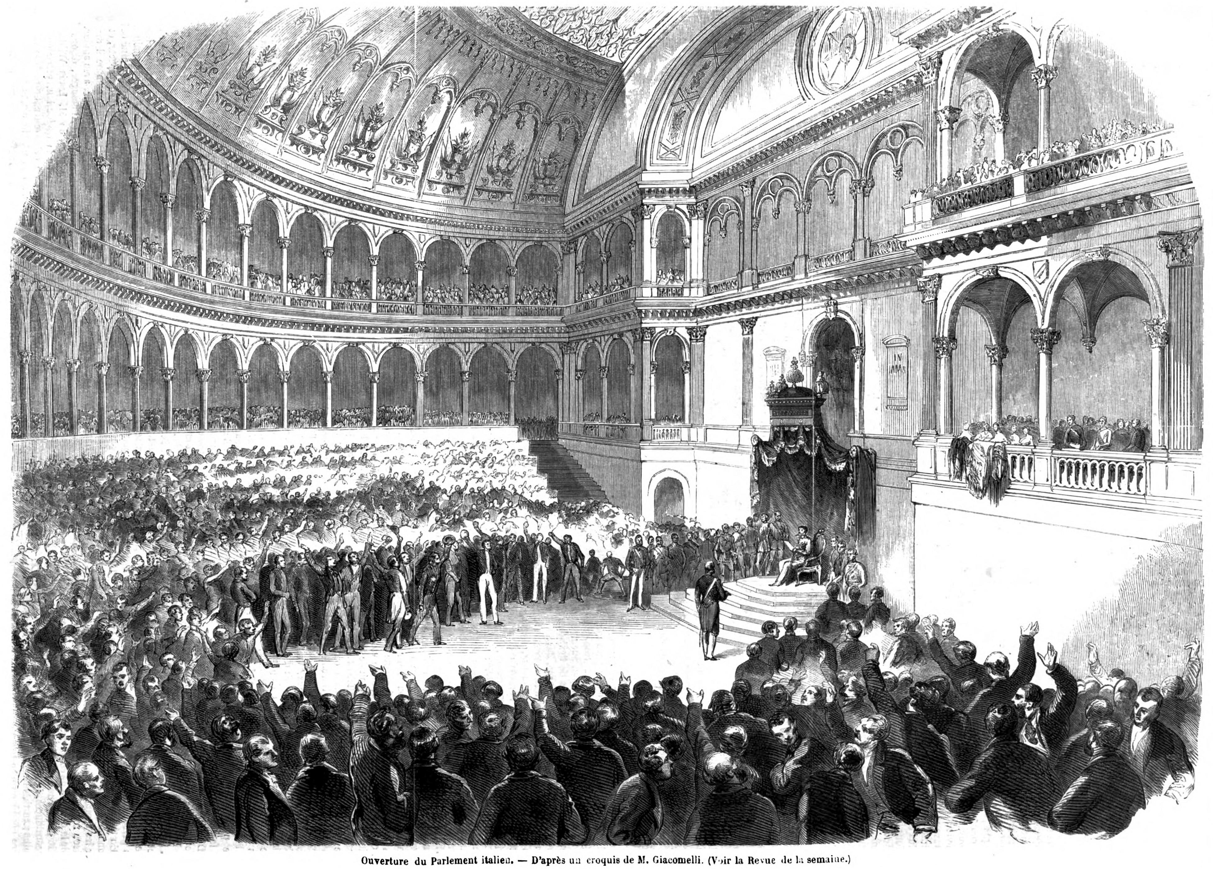 File apertura parlamento 1861 l 39 for Parlamento wikipedia