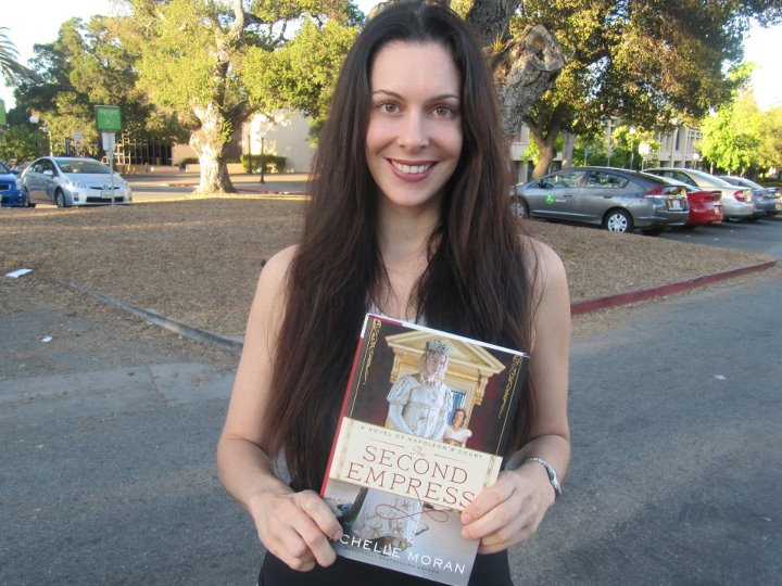 Michelle Moran with a copy of her fifth book, ''The Second Empress''
