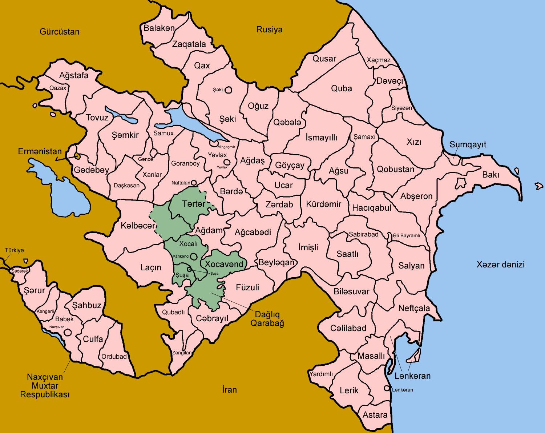 Atlas Of Azerbaijan Wikimedia Commons - Azerbaijan map
