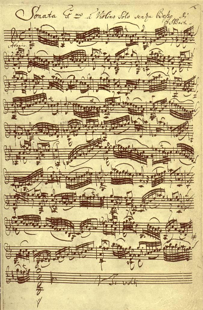 Sonaten und Partiten für Violine solo – Wikipedia