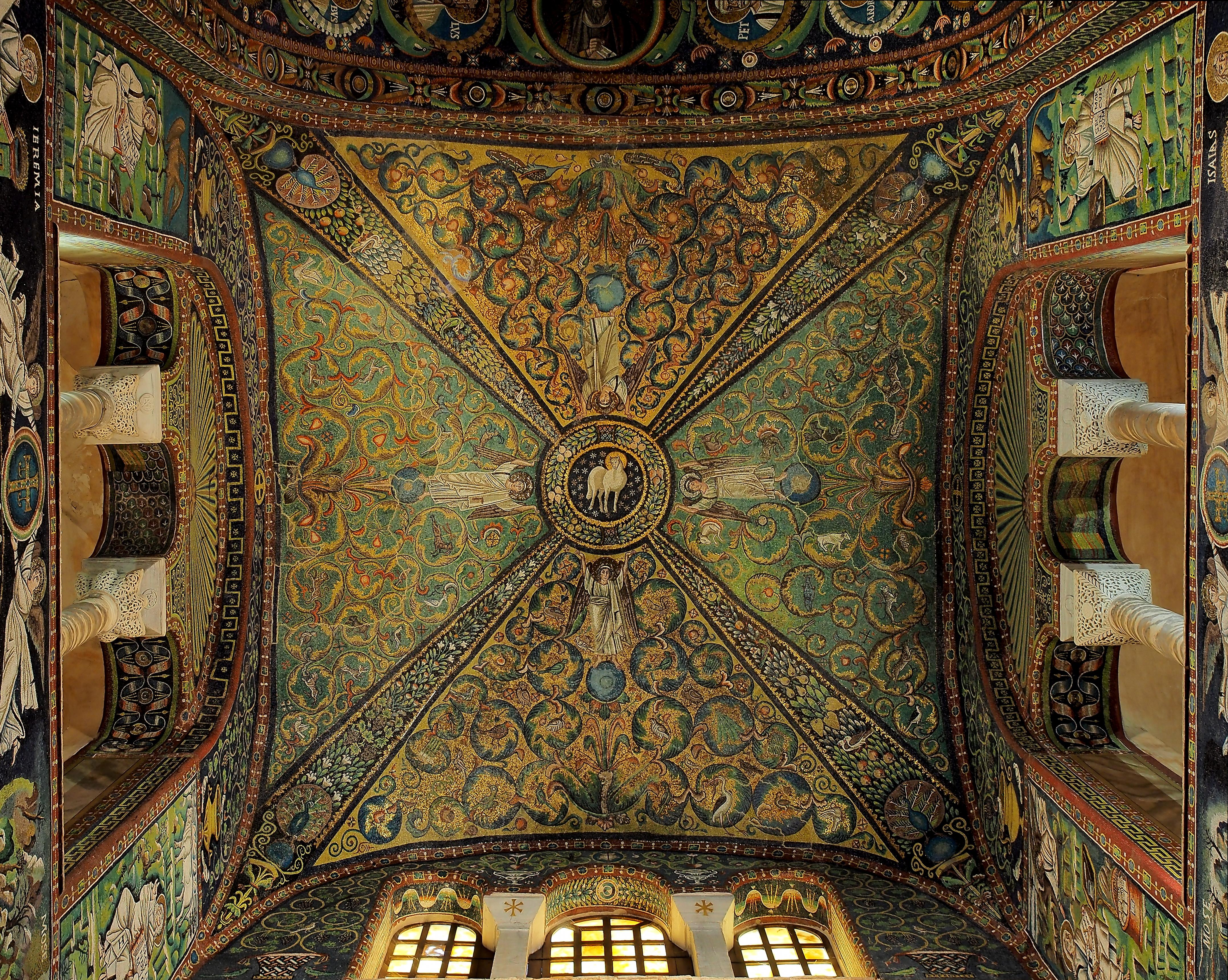 Basilica of San Vitale - Lamb of God mosaic