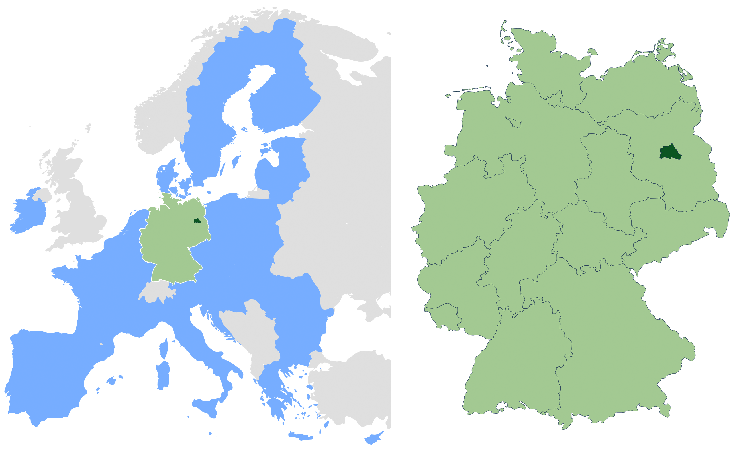 Location Of Germany On World Map - Germany map location