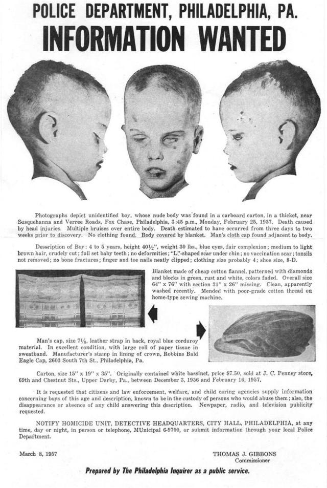 Thread: Boy in the Box, PA, 1957