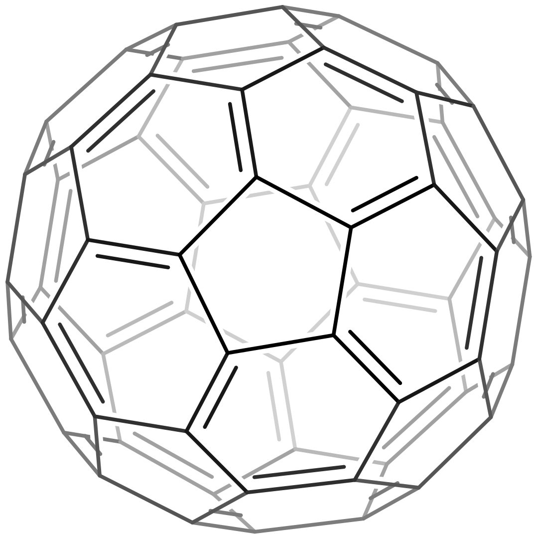 Enklaste formen av en buckminster-fulleren.