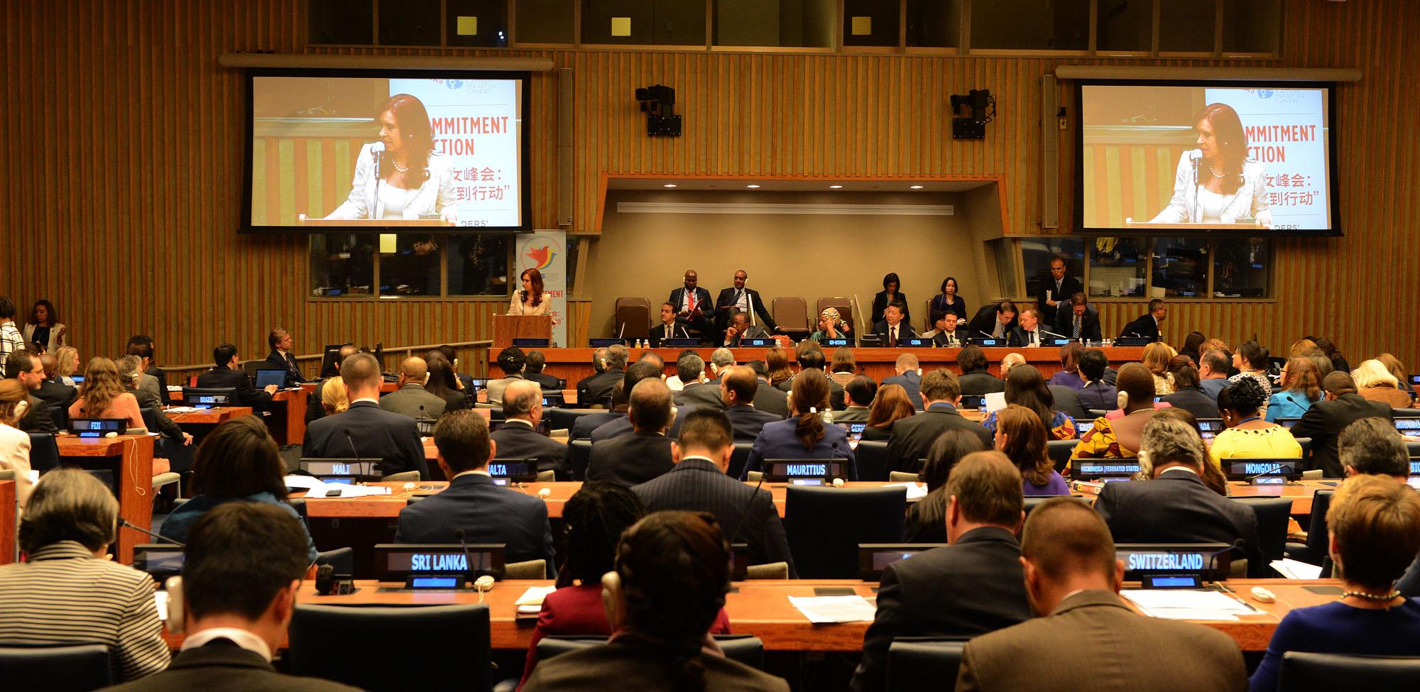 File CFK Encuentro por la Igualdad de Género en la ONU