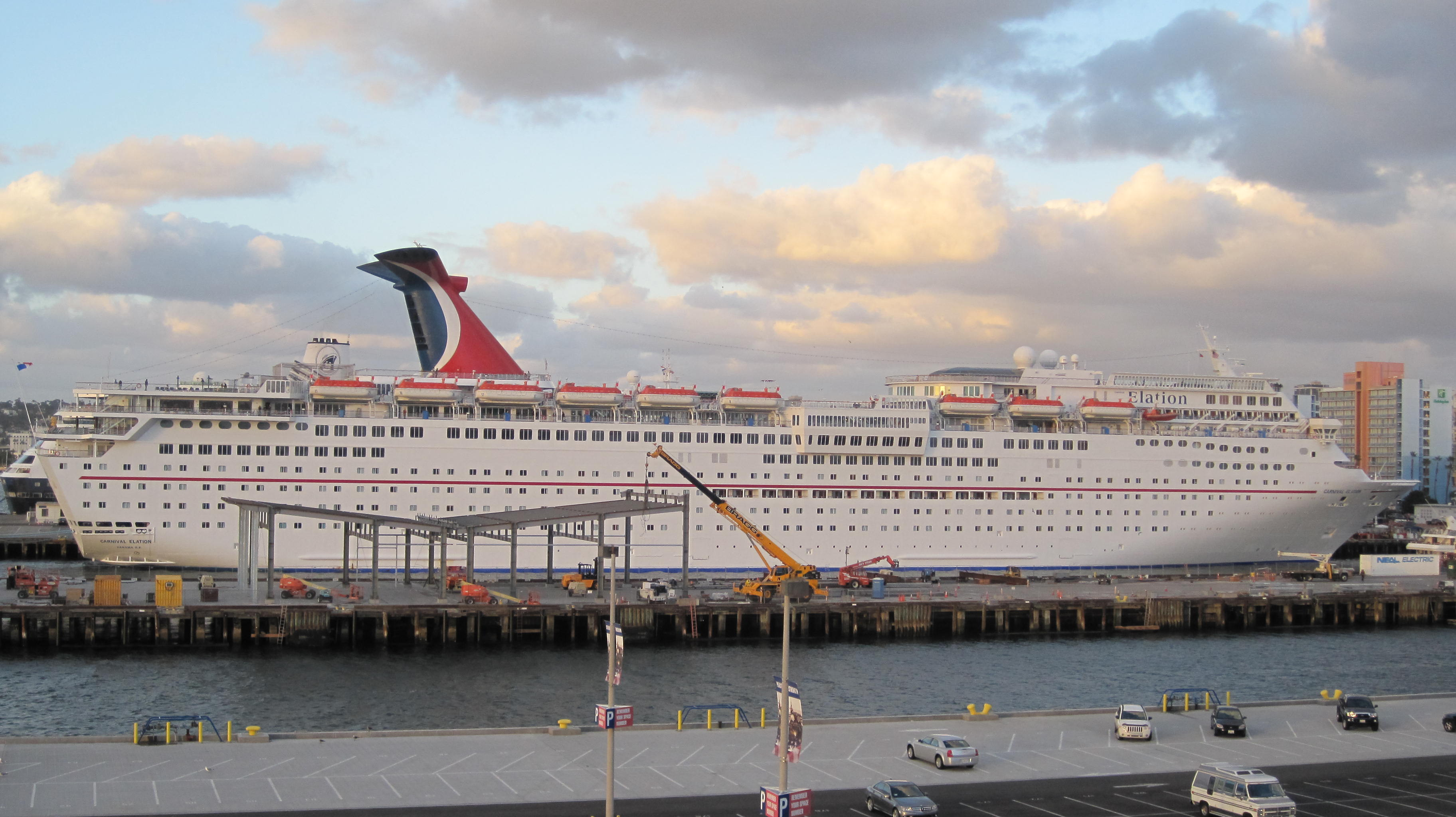 FileCarnival Elation Docked At San Diego JPG - Where do cruise ships dock in san diego