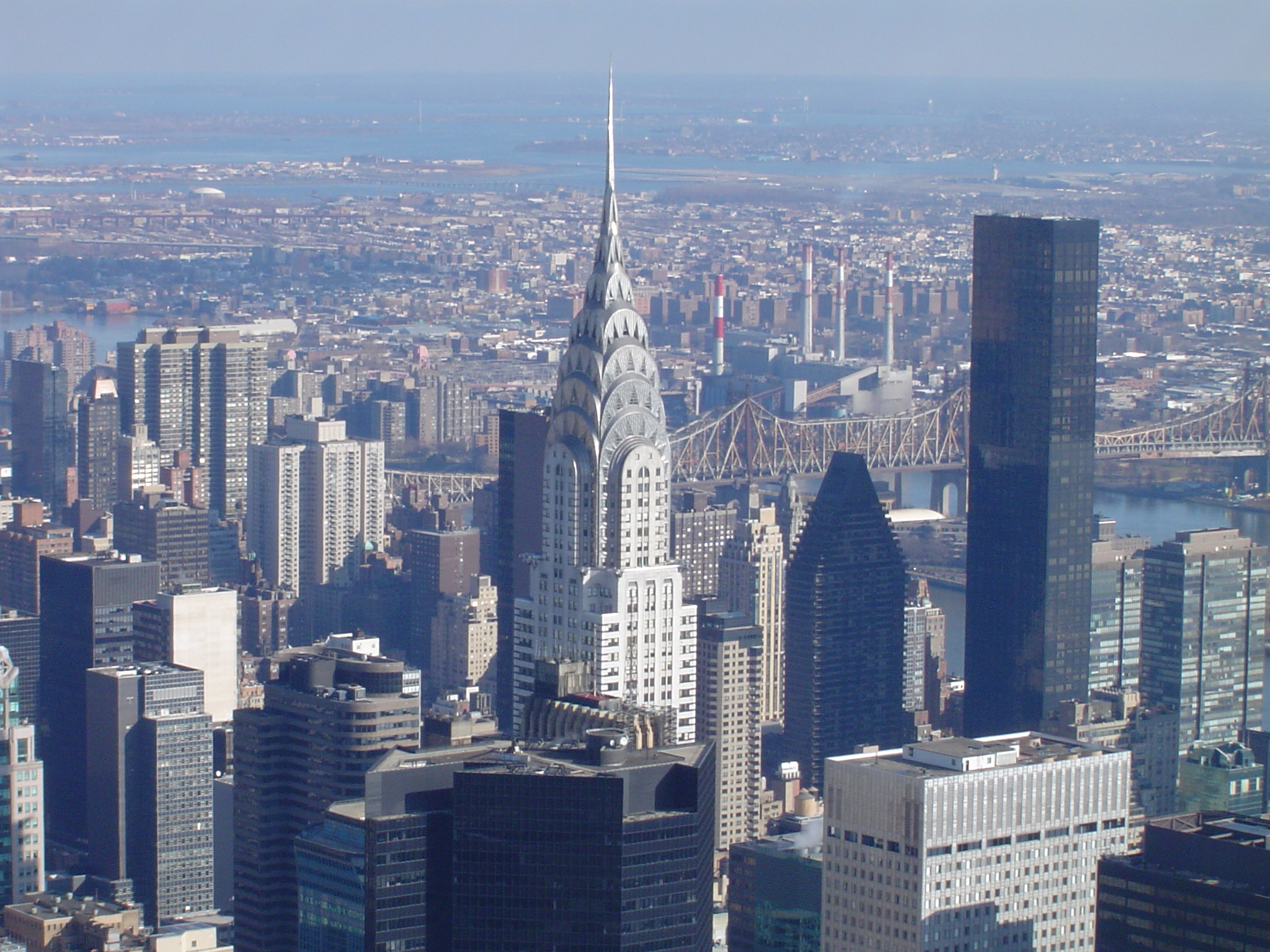 On top of the world at the chrysler building new york for Construction info