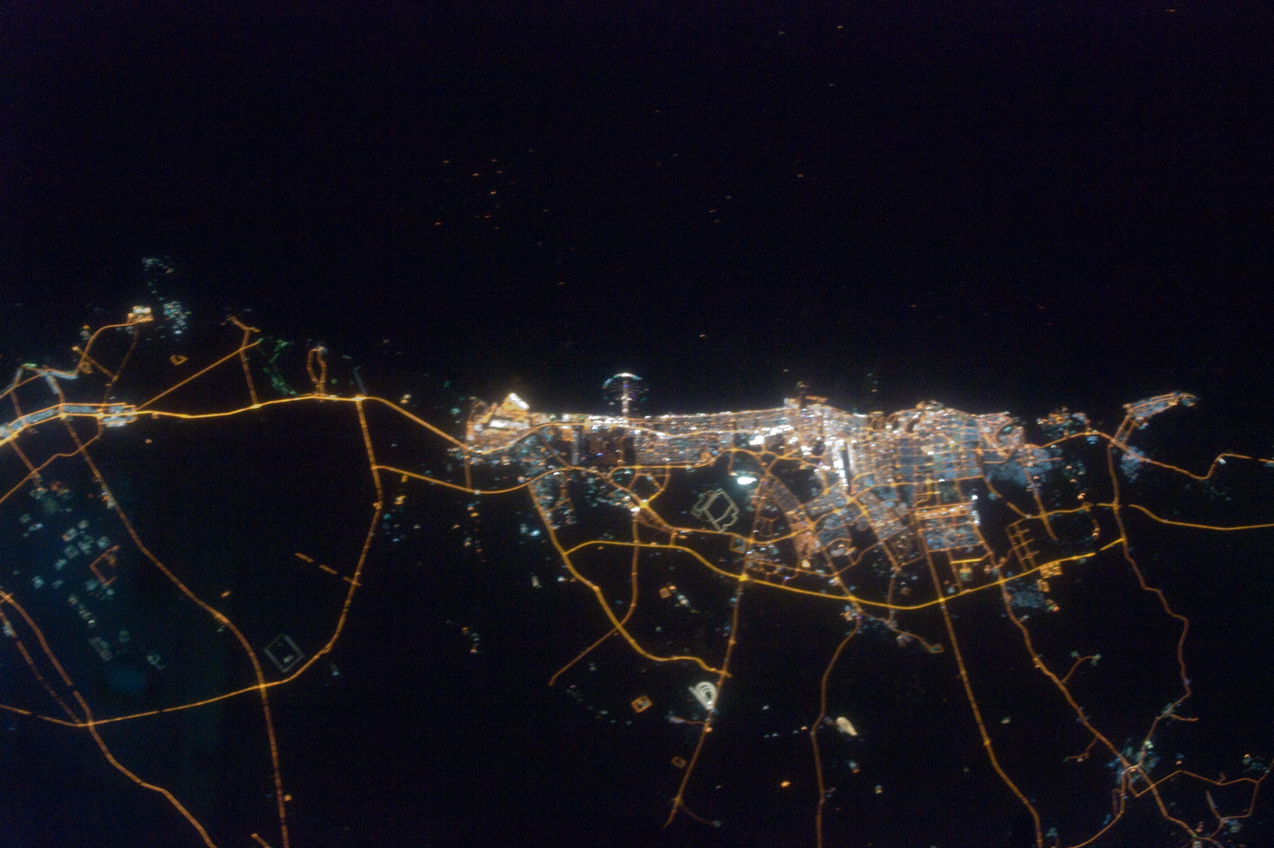 A nightlit city of Dubai
